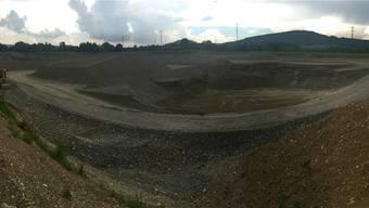 Die Kiesgrube bei Rheinfelden wird dereinst zu einer Deponie. Auch im oberen Fricktal geht es vorwärts. nbo/Archiv