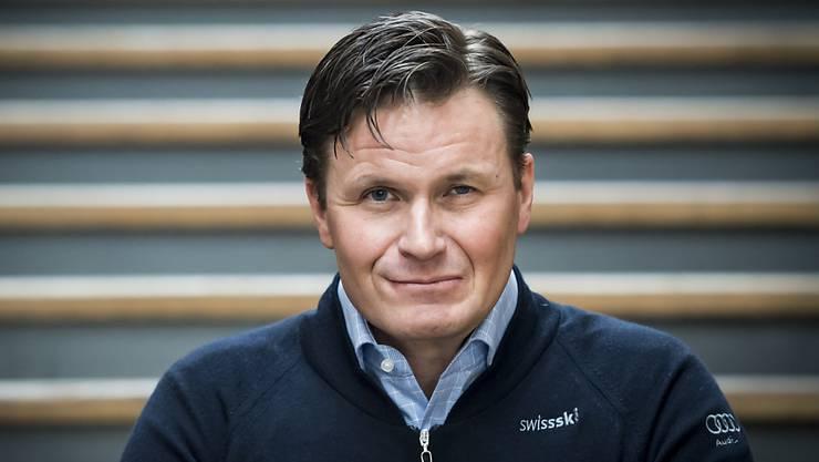 Swiss-Ski-Präsident Urs Lehmann freute sich über die vier Schweizer Medaillen in Are.
