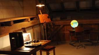 Im Estrich des Bauernhauses auf Noseland steht die Audioinstallation «Gedankengang».