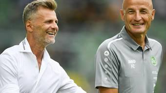 Freuen sich Sportchef Alain Sutter und Trainer Peter Zeidler schon bald über die Leistungen von Stürmer Demirovic?