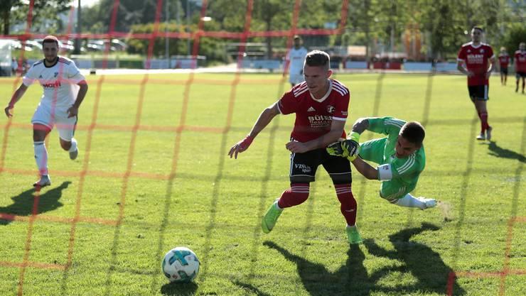 Muttenz-Stürmer Manuel Alessio traf beim 26:0 gegen eine überforderte AS Timau gleich elf Mal.