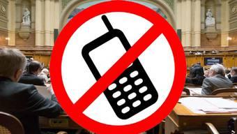 Wer telefonieren will, muss den Nationalratssaal verlassen.