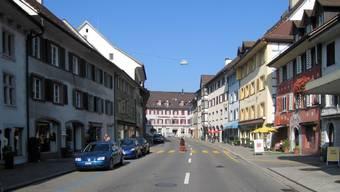 Die Schwertgasse in Bad Zurzach 2009: Bereits damals litt das Gewerbe unter dem schwierigen wirtschaftlichen Umfeld. az/Archiv