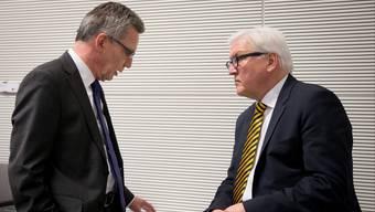 Innenminister Thomas de Maizière (l.) und Aussenminister Frank-Walter Steinmeier.