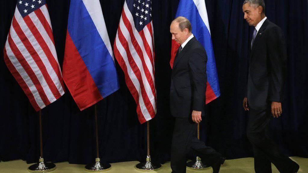 In Syrien im Gleichschritt? Putin und Obama wollen gemeinsam gegen Terrorismus vorgehen.