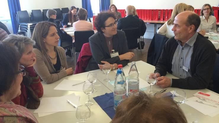 BPW im Gespräch mit Geschäftsleitung und Kadern der Glutz AG.