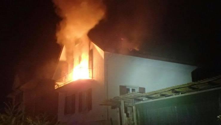 Beim Brand im Jahr 2017 erlitt der Ehemann der Angeklagten schwere Verletzungen. (Archivbild)