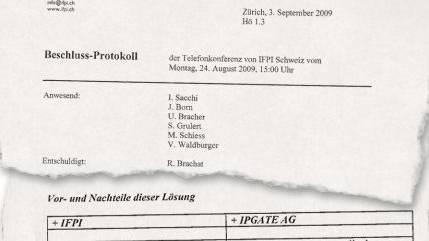 Ausriss aus dem Beschluss-Protokoll der IFPI - eines der Dokumente, das az vorliegt.