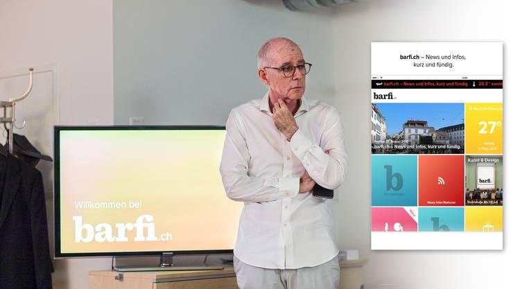 Christian Heeb präsentiert barfi.ch. Die App geht heute um 18 Uhr online und bietet News und Serviceleistungen.