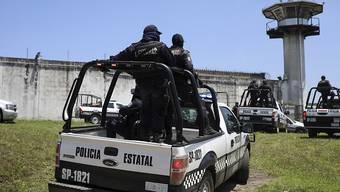 Polizeieinsatz in einem mexikanischen Gefängnis. (Symbolbild)