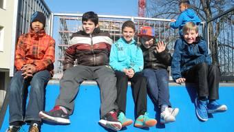 Auf Streifzug: Diesen Primarschülern gefällt die Skateanlage auf dem Schützenmatt-Schulareal.