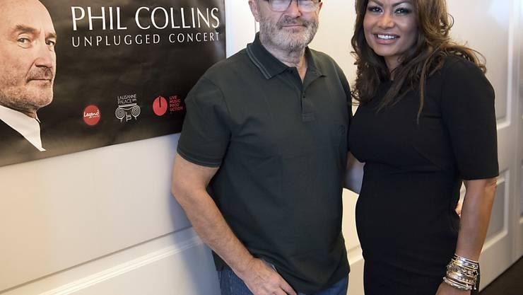 Phil Collins und seine Schweizer Ex-Frau Orianne sind bekanntlich wieder ein Paar. Sie allerdings ist noch verheiratet, will aber den wüsten Rosenkrieg nun beenden. (Archivbild)