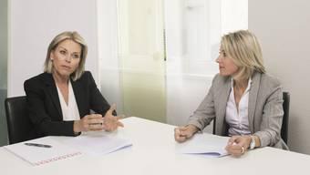 «Trotz aller Hilfe muss man sich letztlich bewusst sein, dass eine Trennung und Scheidung meistens sehr schmerzhaft ist»: Gabriela Rohner (l.) und Anja Schmid.