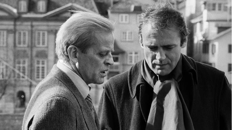 Wo sich die wilden Kerle treffen: Klaus Kinski (links) besucht Bruno Ganz 1979 in Zürich. Die beiden haben für Werner Herzog in «Nosferatu» gespielt.