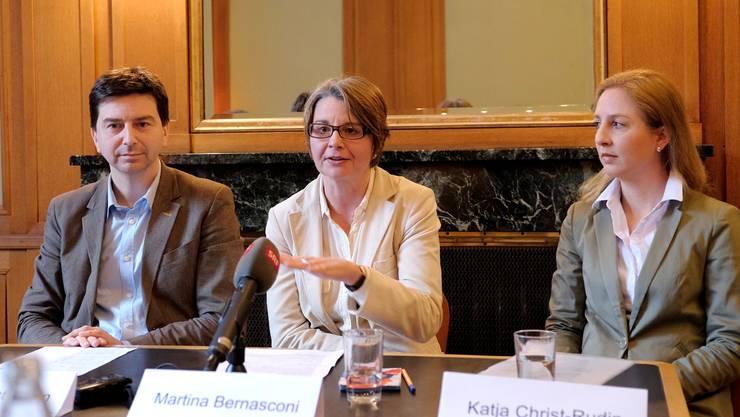 Die Grünliberalen schicken Martina Bernasconi (Mitte) ins Rennen um Contis Nachfolge.