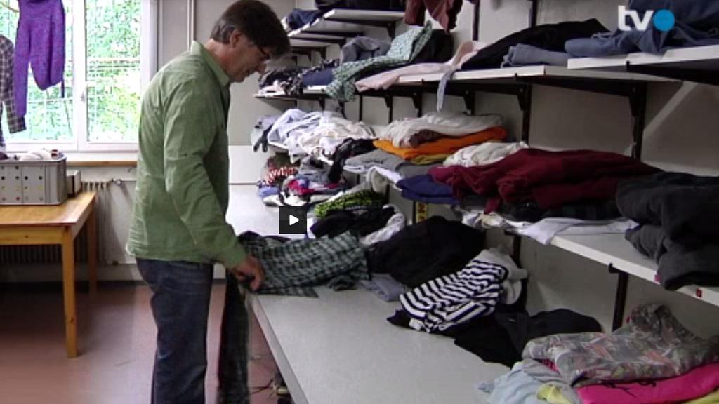 Die St.Galler spenden fleissig Kleider für Asylbewerber.