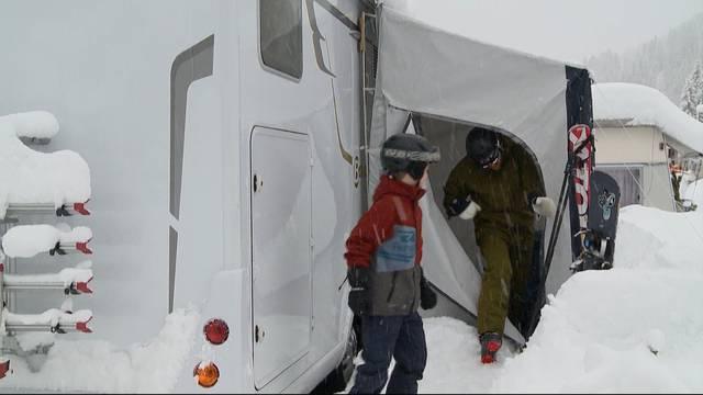 Camping im Schnee: Teil 2