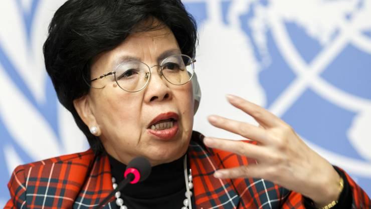 WHO-Direktorin Margaret Chan in Genf.