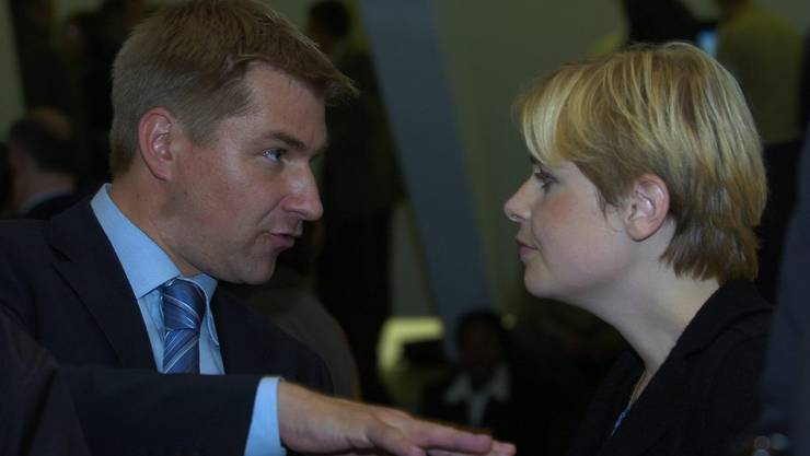 Toni Brunner mit Freundin Esther Brunner im Jahr 2007.