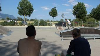 Der Skaterpark beim Badi-Parkplatz wird von Jugendlichen aus der ganzen Region benützt.