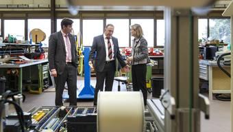 Firmenbesuch von RR Brigit Wyss bei Maschinenbau-Firma Soprem AG