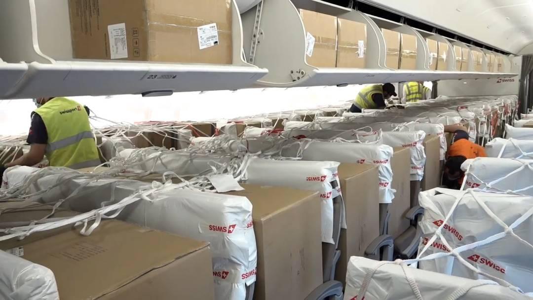 Pakete statt Passagiere: Die Swiss stellt teilweise auf Frachtflüge um