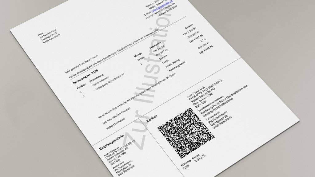 Ab Mitte 2020 kommt ein neuer Einzahlungsschein in der Schweiz mit QR-Code, der die heutigen sieben Einzahlungsscheine schrittweise ablöst.
