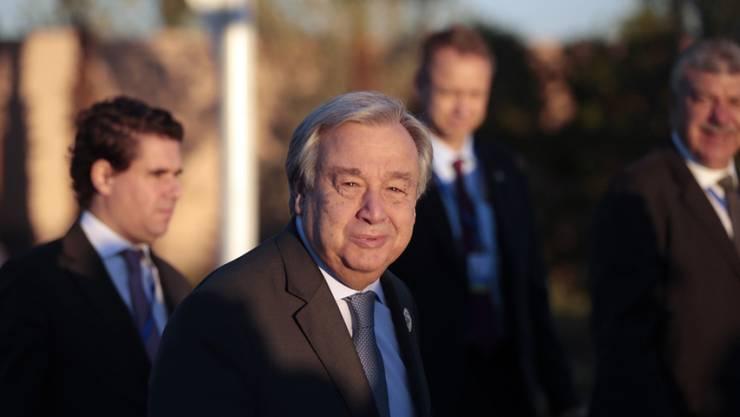 Uno-Generalsekretär Antonio Guterres am Montag an der Uno-Migrationskonferenz in Marrakesch.