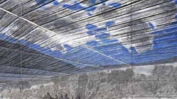 """Zeichnung zu Christos Verhüllungsprojekt """"Over the River"""". Nach jahrelangem Behördenstreit gibt er den Plan nun auf. (Handout)"""