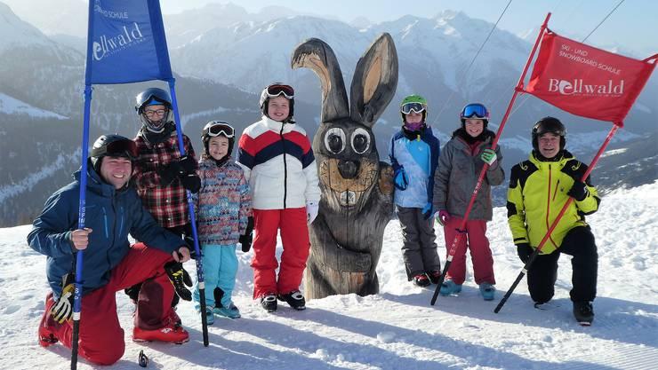 Ob Könner oder Anfänger (unser Bild), alle 5./6.-Klässler der Schule Lohn-Ammannsegg kamen bei der Skiwoche 2020 in Bellwald auf ihre Rechnung.