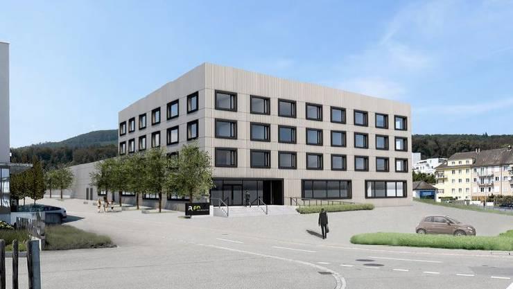 So wird sich das neue Betriebsgebäude der a.en im Dünnernbogen präsentieren.