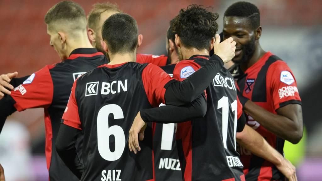 Nach neun Niederlagen in Folge können die Xamaxiens wieder jubeln: 2:0 gegen Winterthur