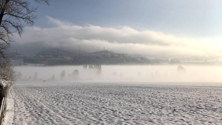 Das winterliche Suhrental bei Reitnau. Archiv