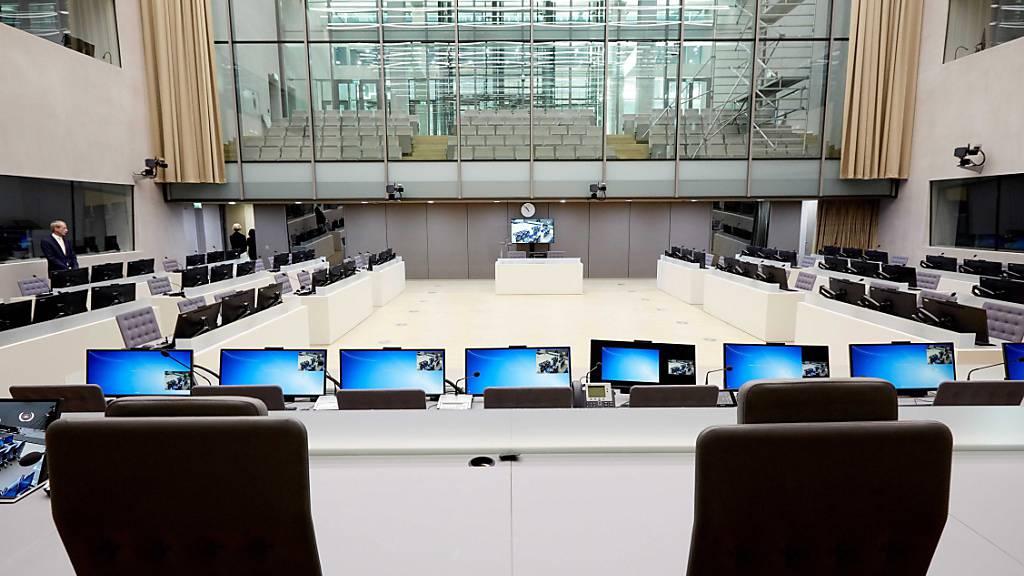 ARCHIV - Der Gerichtssaal des Internationalen Strafgerichtshofes in Den Haag. Foto: Martijn Beekman/ANP/dpa