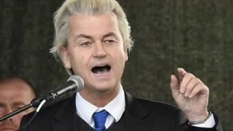 Sprach in Dresden zu gleichgesinnten Deutschen: Geert Wilders