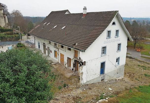 Die «Aarfähre» wurde mittlerweile von allen späteren Anbauten befreit.