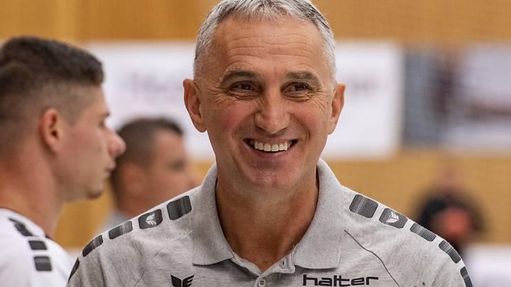 Goran Perkovac, der Trainer von Leader Kriens-Luzern, hat derzeit gut lachen