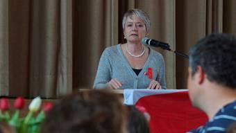 Nationalrätin Jacqueline Fehr fand in ihrer 1. Mai-Rede klare Worte und verurteilte Fremdenfeindlichkeit und ungerechte Löhne. Dominic Kobelt