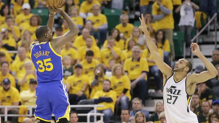 Kevin Durant ist mit den Golden State Warriors in den diesjährigen NBA-Playoffs noch ungeschlagen