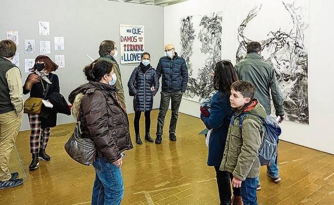 Pro Mal durften 40 Besucherinnen und Besucher in den Kunstwerkraum.