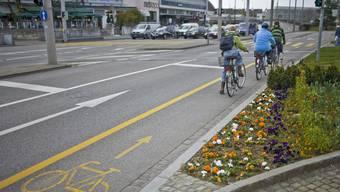 In Basel ist der Anteil Velofahrer am Gesamtverkehr mit 16% am höchsten.