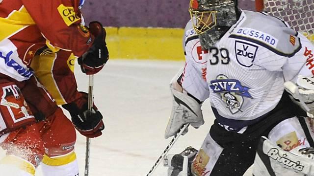 Claudio Moggi scheitert an Zug-Goalie Sandro Zurkirchen