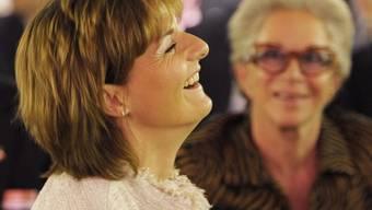 Hat gut lachen: Ruth Metzler an der Osec-Generalversammlung
