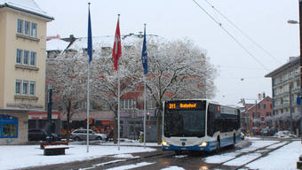 Kantonsweit kam es wegen des Schnees zu rund 40 Unfällen. (Archivbild)