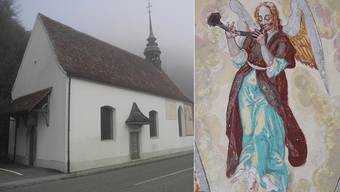 Barocke Engelsfiguren in der Kapelle St.Wolfgang in Balsthal.