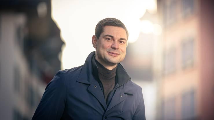 Präsident des Gewerbeverbands Aargau Benjamin Giezendanner.