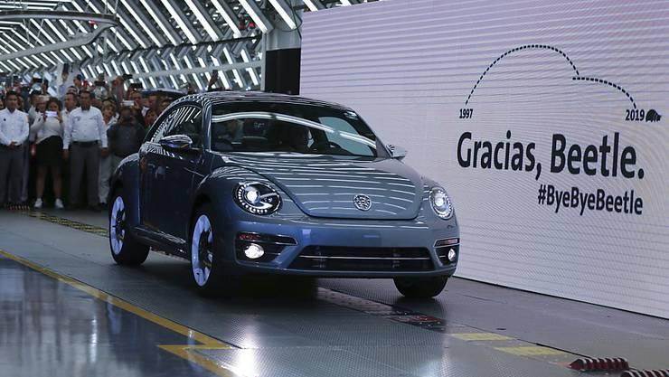 Der letzte VW Beetle, der vom Band lief.