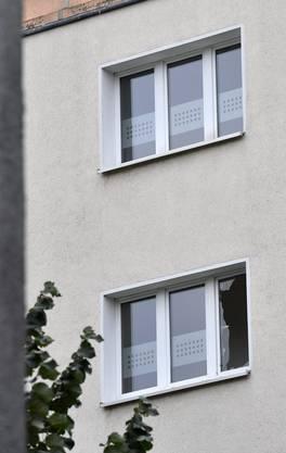 In diesem Haus in Chemnitz wurde der Sprengstoff entdeckt.