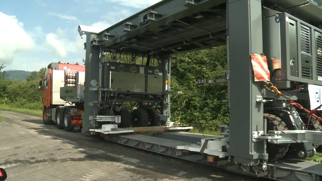 Astra-Weltneuheit: Mobile Brücke gegen Stau während Bauarbeiten