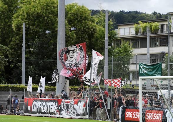 Die Fans des FC Aarau blieben ihrem Klub auch im Schweizer Cup treu.